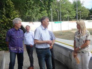Pressetermin zur Reko Rad- und Reitstadion mit Günther Schulz, Jens Handreck, Gerd Suschowk und Heike Korittke (Bild: 3/5)
