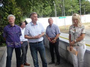 Pressetermin zur Reko Rad- und Reitstadion mit Günther Schulz, Jens Handreck, Gerd Suschowk, Dietmar Vogt und Heike Korittke (Bild: 4/5)
