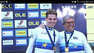 Die Steher-Europameister Franz Schiewer und Gerd Gessler, Foto: Caro Andreck (Bild: 1/3)