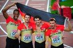 Freude über den 3. Platz der 4-x-400-m-Staffel bei den Europameisterschaften 2012 in HelsinkiFoto: Team GB © (Bild: 2/4)